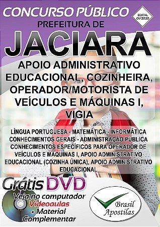 Jaciara - MT - 2020 - Apostilas Para o Nível Fundamental, Médio e Superior - VERSÃO DIGITAL