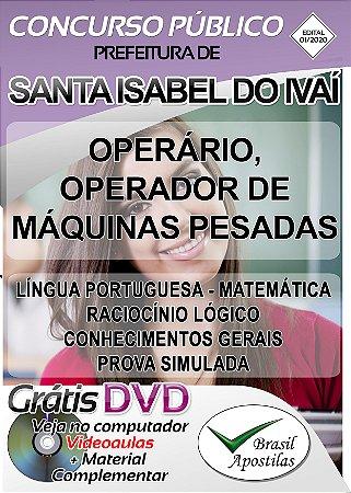 Santa Isabel do Ivaí - PR - 2020 - Apostilas Para Nível Fundamental e Técnico