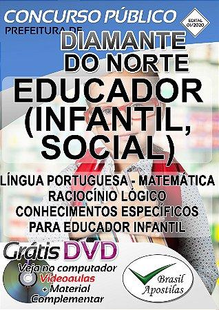 Diamante do Norte - PR - 2020 - Apostila Para Educador Infantil e Educador Social