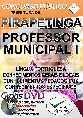 Pirapetinga - MG - 2020 - Apostila Para Professor Municipal