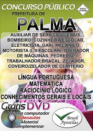 Palma - MG - 2020 - Apostilas Para Nível Fundamental, Médio e Superior