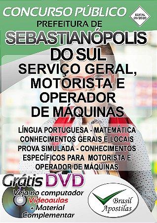 Sebastianópolis Do Sul - MG - 2020 - Apostila Para Nível Fundamental e Médio
