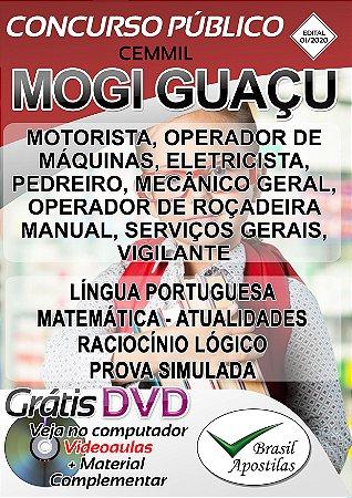Mogi Guaçu - CEMMIL - SP - 2020 - Apostila Para Nível Fundamental