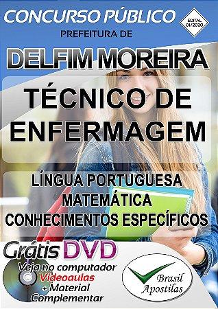 Delfim Moreira - MG - 2020 - Apostila Para Técnico de Enfermagem