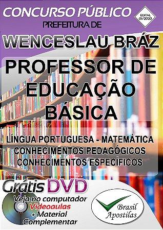 Wenceslau Braz - MG - 2020 - Apostila Para Professor de Educação Básica