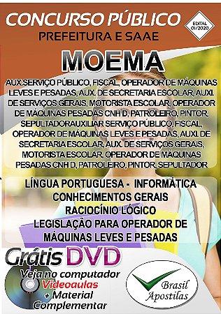 Moema - SP - 2020 - Prefeitura e SAAE - Apostilas Para Nível Fundamental e Médio