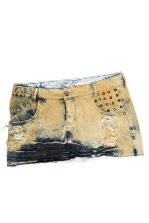 Saia Jeans Destroyed Spikes - cor terra