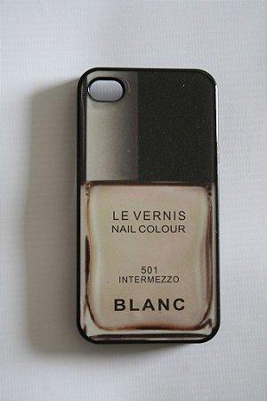 Capa iPhone 4 Chanel Le Vernis Blanc