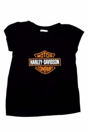 Tee Harley Davidson Preta