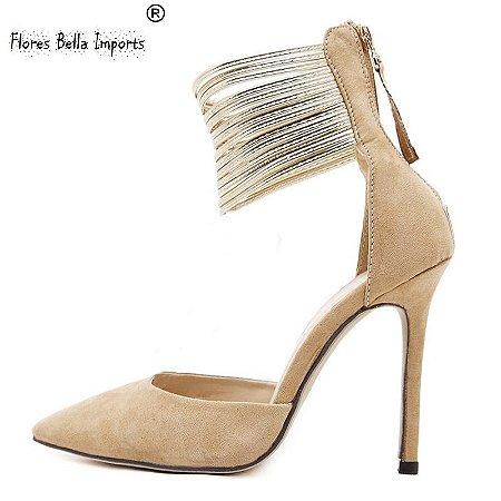 Sapato Sexy  Estileto  Salto Alto  Ziper Coleção 2016