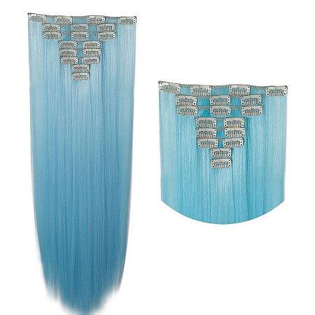 Mega Hair  Tic Tac Liso Sweet Woman Fibra Japonesa  8 Telas  66 cm 145g