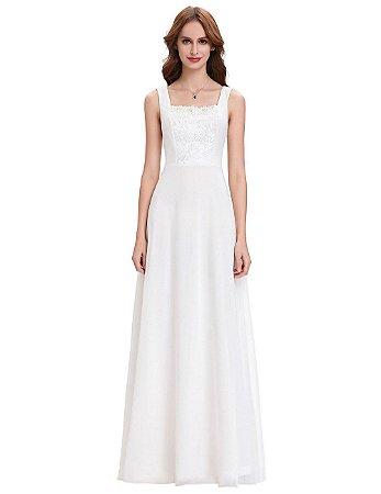 Vestido   Marie Nupcial Branco Renda