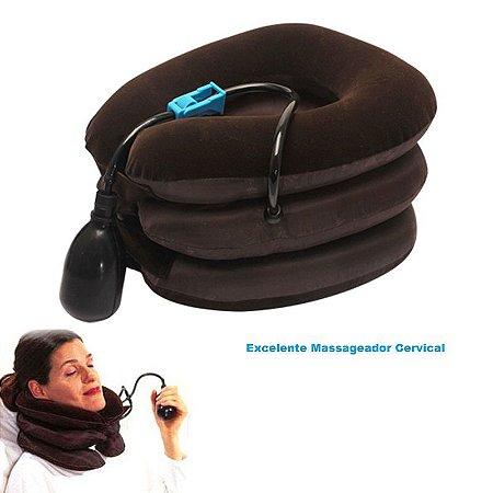 Massageador  Cervical Pneumática Inflável Com 3 Camadas de Relaxamento
