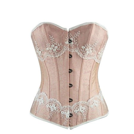 Corselet Pink Overbust Lace Up