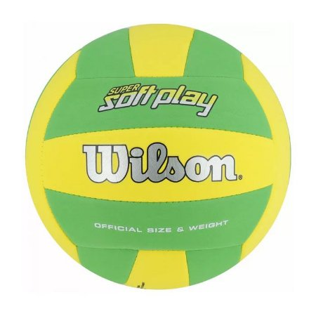 Bola de Vôlei Super Soft Play Amarelo Verde Wilson - WTH350 ... d4a1adcd1be81