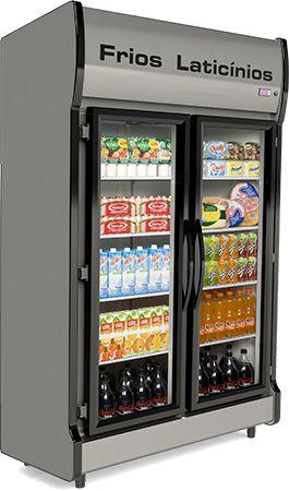 Expositor Refrigerado Vertical  de Auto Serviço 2 Portas E AS-2/E Conservex
