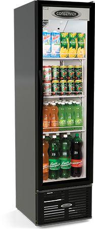 Expositor Refrigerado Vertical Preto ERV-250/P Conservex