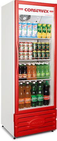 Expositor Refrigerado Vertical Vermelho ERV-400/V - Conservex
