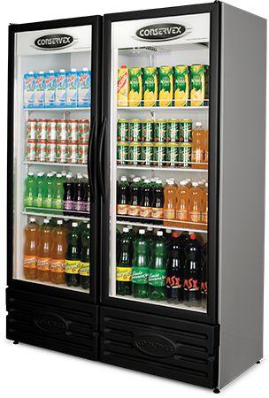Expositor Refrigerado Vertical 2 Portas Preto ERV-850/P Conservex