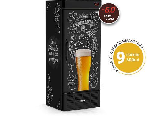 Cervejeira Refrigerada CRV-600/B Lousa de Bar Conservex