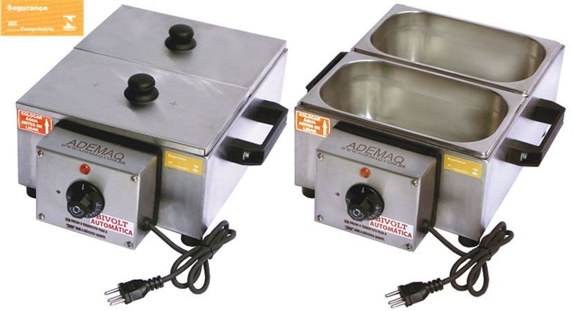 Derretedeira de Chocolate Bivolt Automática 5Kg com 2 Cubas Ademaq