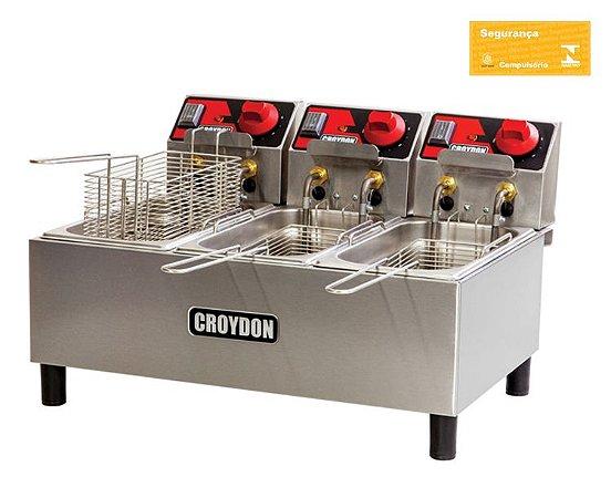 Fritadeira Elétrica 3x3 litros FC3A Croydon
