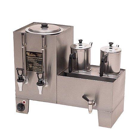 Cafeteira Linha Conjugadas (café e leite) com recipiente do café esmaltado - Monarcha