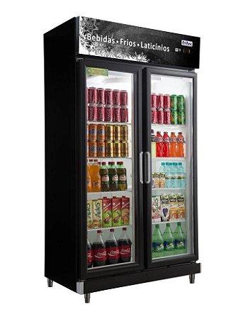 Expositor Refrigerado Vertical - Linha Economic de 2 Portas Frilux
