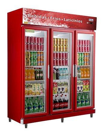 Expositor Refrigerado Vertical  - Linha Economic de 3 Portas Frilux