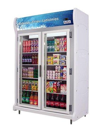 Expositor Refrigerado Vertical - Linha Luxo de 2 Portas Frilux