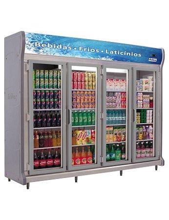 Expositor Refrigerado Vertical Linha Luxo - 4 Portas Frilux