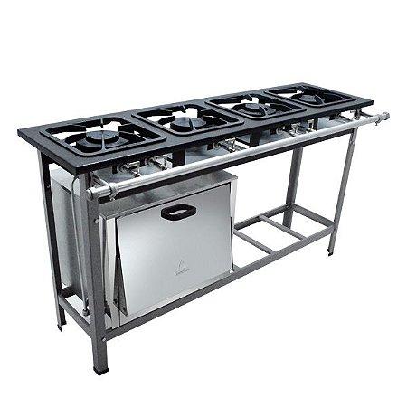 Fogão Industrial a Gás de Baixa Pressão M12 S2000 - Metal Maq