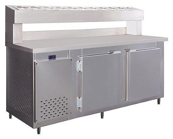 Balcão de Serviço com Condimentador em Aço Inox - Frilux