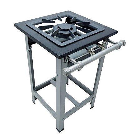 Fogão Industrial a Gás de Baixa Pressão M1 Pé - Série Luxo 40X40 Metal Maq