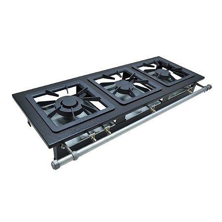 Fogão Industrial a Gás de Baixa Pressão M3 - Série Luxo 40X40 Metal Maq