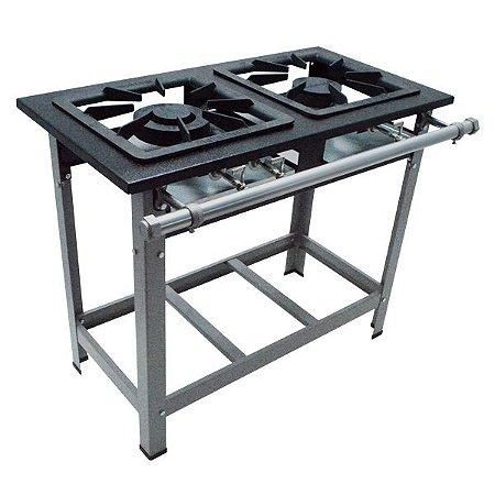 Fogão Industrial a Gás de Baixa Pressão M6 - Série Luxo 40X40 Metal Maq