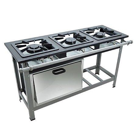 Fogão Industrial a Gás de Baixa Pressão M11 - Série Luxo 40X40 Metal Maq