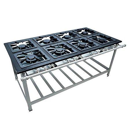 Fogão Industrial a Gás de Baixa Pressão M16  - Série Luxo 40X40 Metal Maq