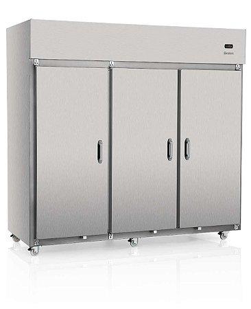 Geladeira Comercial Vertical de 3 Portas em Aço Inox  - GRCS-3P Gelopar
