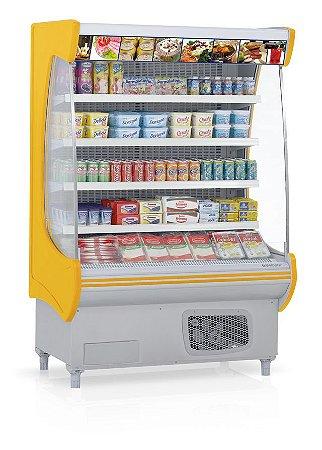 Expositor Refrigerado Vertical Aberto Topázio - GSTO-130AM Gelopar