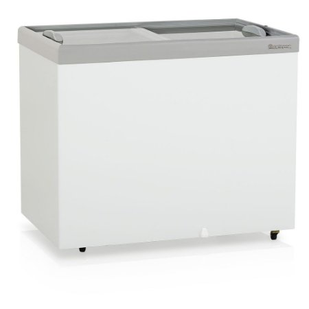 Conservador/Refrigerador Horizontal Plano Vidro Reto Deslizante Dupla Ação - GHDE-310 Gelopar