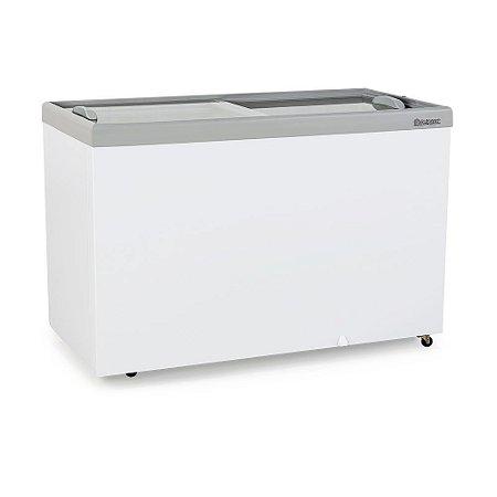Conservador/Refrigerador Horizontal Plano Vidro Reto Deslizante Dupla Ação - GHDE-410 Gelopar