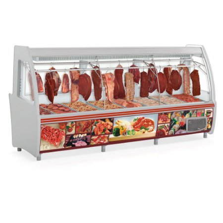 Expositor Frigorífico Açougue Depósito Refrigerado Pop Duplex - GCPC-310D  Gelopar