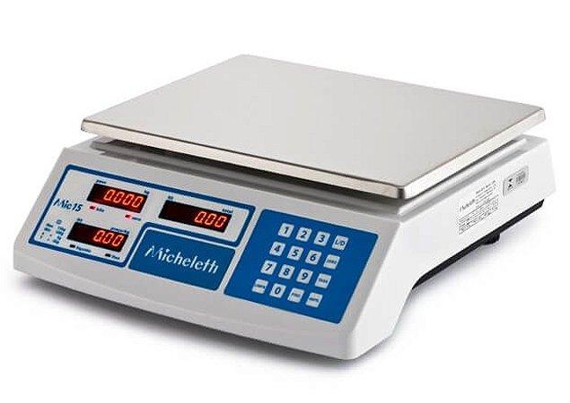 Balança Eletrônica Computadora Comercial MIC15 15kg - Micheletti