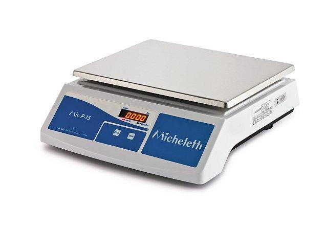 Balança Eletrônica Comercial Pesadora P15 15kg - Micheletti