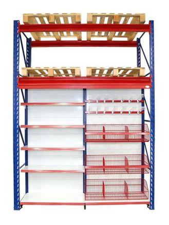 Sistema de Armazenagem Porta Paletes Armazenagem15 - Cristal Aço