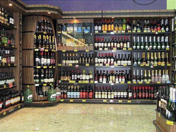 Expositor para Bebidas Art-Market ref: art4.1 - Cristal Aço