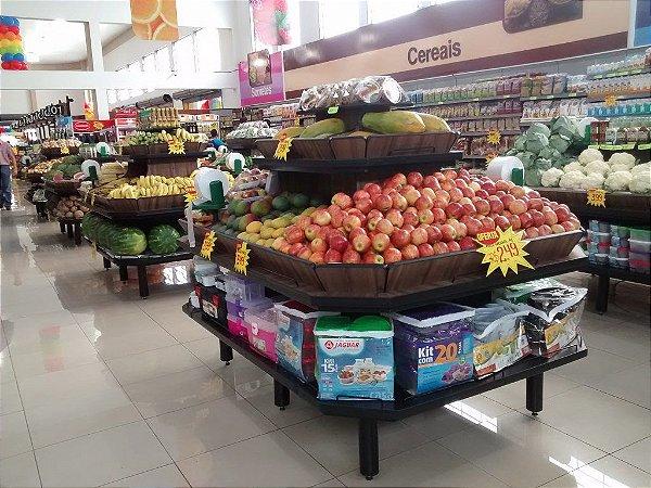 Expositor para Frutas e Produtos Art-Market ref: art24 - Cristal Aço