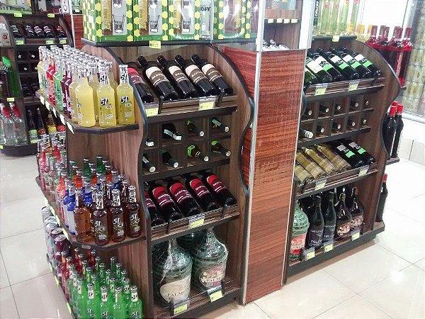 Expositor de Bebidas Art-Market ref: art26 - Cristal Aço