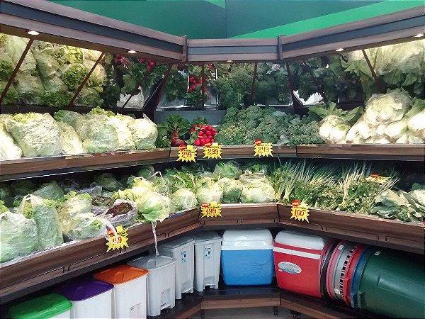 Expositor de Vegetais e Produtos Art-Market ref: art27- Cristal Aço